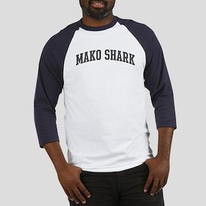 Mako Shark (curve-grey) Baseball Jersey
