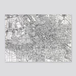 Vintage Map of Berlin (1846) BW 5'x7'Area Rug