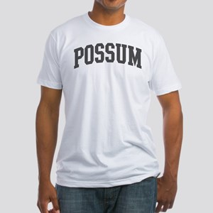 Possum (curve-grey) Fitted T-Shirt