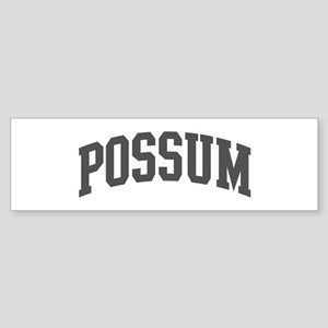 Possum (curve-grey) Bumper Sticker