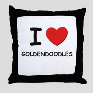 I love GOLDENDOODLES Throw Pillow