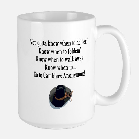 Gamblers Anonymous Large Mug