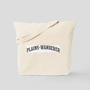 Plains-Wanderer (curve-grey) Tote Bag