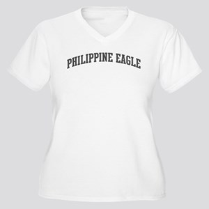 Philippine Eagle (curve-grey) Women's Plus Size V-