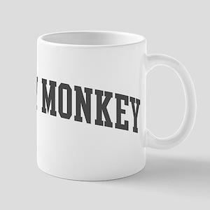 Snow Monkey (curve-grey) Mug