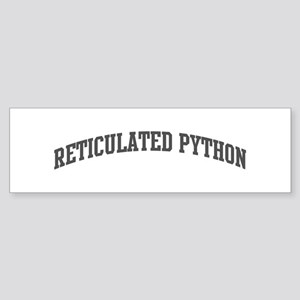 Reticulated Python (curve-gre Bumper Sticker