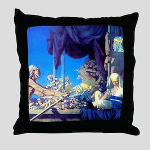 Maxfield Parrish Cleopatra Throw Pillow