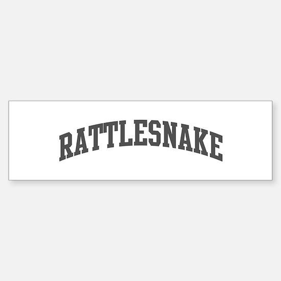 Rattlesnake (curve-grey) Bumper Bumper Bumper Sticker