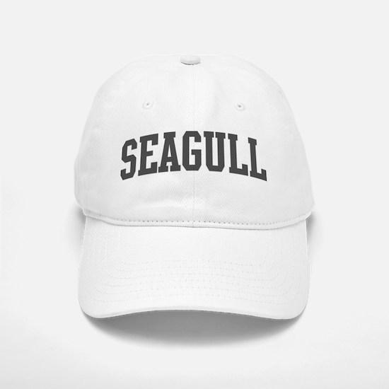 Seagull (curve-grey) Baseball Baseball Cap