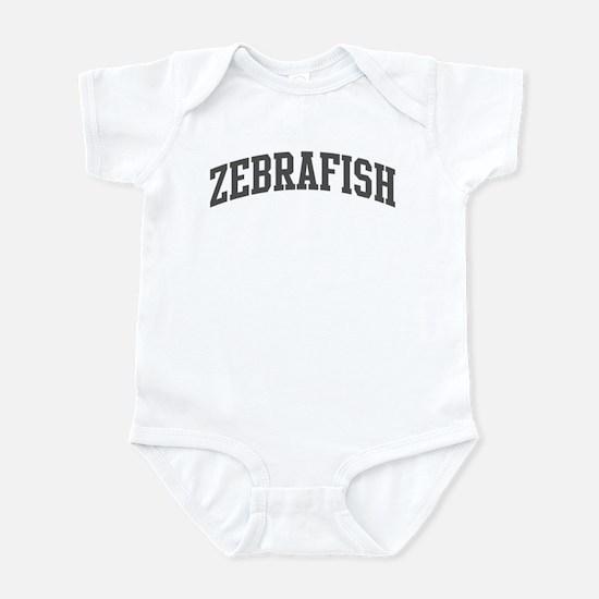 Zebrafish (curve-grey) Infant Bodysuit