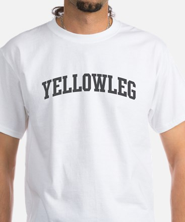 Yellowleg (curve-grey) White T-Shirt
