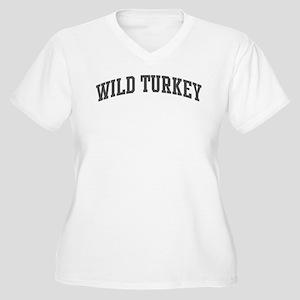 Wild Turkey (curve-grey) Women's Plus Size V-Neck