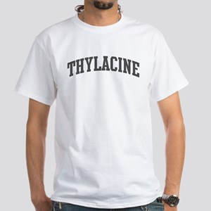 Thylacine (curve-grey) White T-Shirt