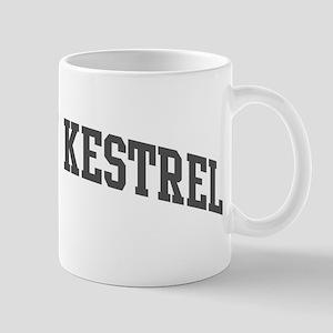 American Kestrel (curve-grey) Mug