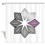 Demisexual Pride Starburst Shower Curtain