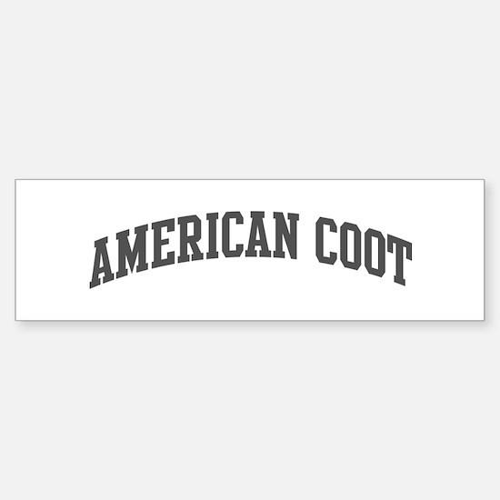 American Coot (curve-grey) Bumper Bumper Bumper Sticker
