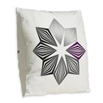 Demisexual Pride Starburst Burlap Throw Pillow