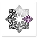 Demisexual Pride Starbur Square Car Magnet 3