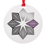 Demisexual Pride Starburst Round Ornament