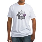 Demisexual Pride Starburst Fitted T-Shirt