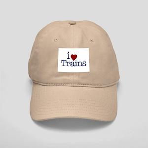 I Love Trains Cap