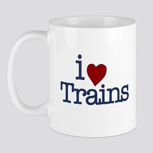 I Love Trains Mug
