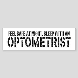 Feel Safe with an Optometrist Bumper Sticker