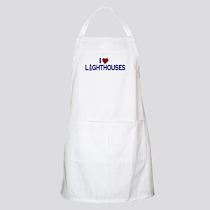 I Love Lighthouses (new) BBQ Apron