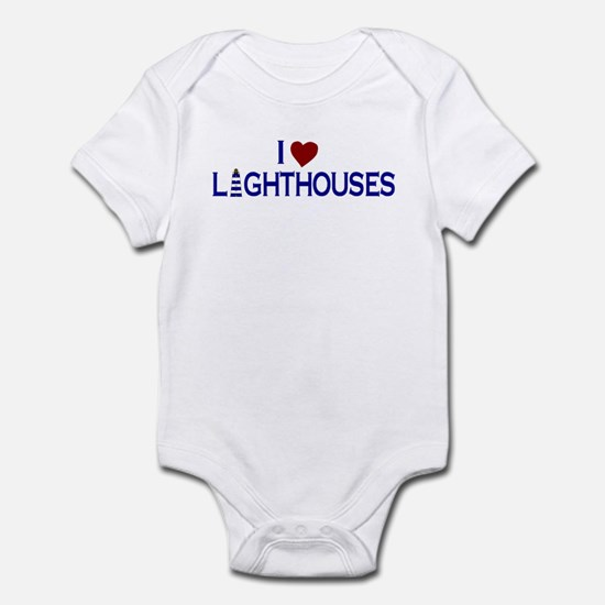 I Love Lighthouses (new) Infant Bodysuit