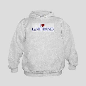 I Love Lighthouses (new) Kids Hoodie