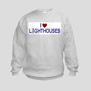 I Love Lighthouses (new) Kids Sweatshirt
