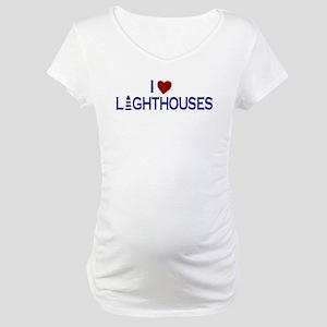 I Love Lighthouses (new) Maternity T-Shirt