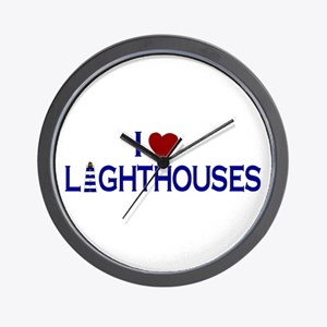 I Love Lighthouses (new) Wall Clock