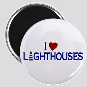 I Love Lighthouses (new) Magnet