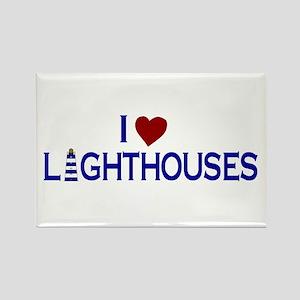 I Love Lighthouses (new) Rectangle Magnet