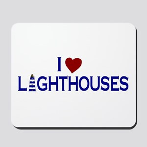 I Love Lighthouses (new) Mousepad