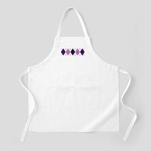Purple Plaid Argyle BBQ Apron