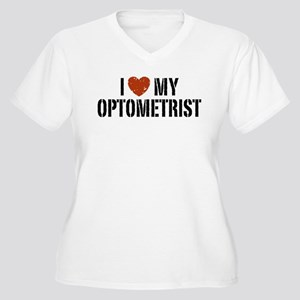 I Love My Optometrist Women's Plus Size V-Neck T-S