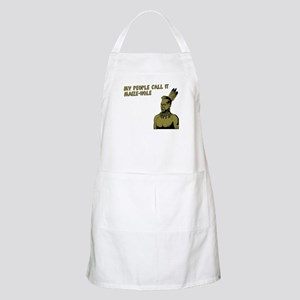 My people call it maize hole BBQ Apron