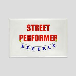 Retired Street Performer Rectangle Magnet