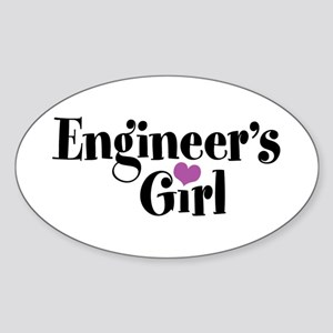 Engineer's Girl Oval Sticker