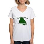 Mackinac Island - It's Never Women's V-Neck T-Shir