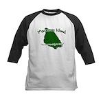 Mackinac Island - It's Never Kids Baseball Jersey