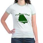 Mackinac Island - It's Never Jr. Ringer T-Shirt