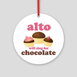 Funny Alto Ornament (Round)