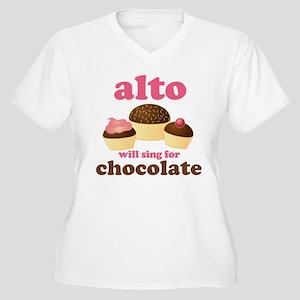 Funny Alto Women's Plus Size V-Neck T-Shirt