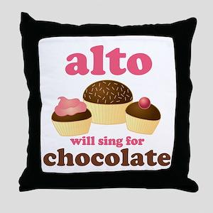 Funny Alto Throw Pillow
