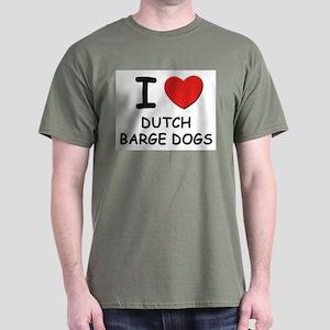 I love DUTCH BARGE DOGS Dark T-Shirt