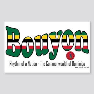 Bouyon Rectangle Sticker 10 pk)