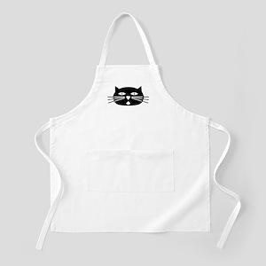 Mod Black Cat BBQ Apron
